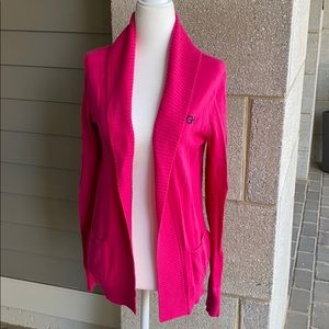NWOT Gilly Hicks Pink Open Front Cardigan